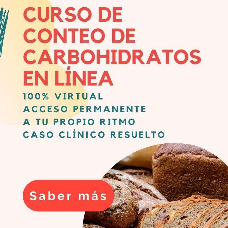 Curso en línea de conteo de carbohidratos